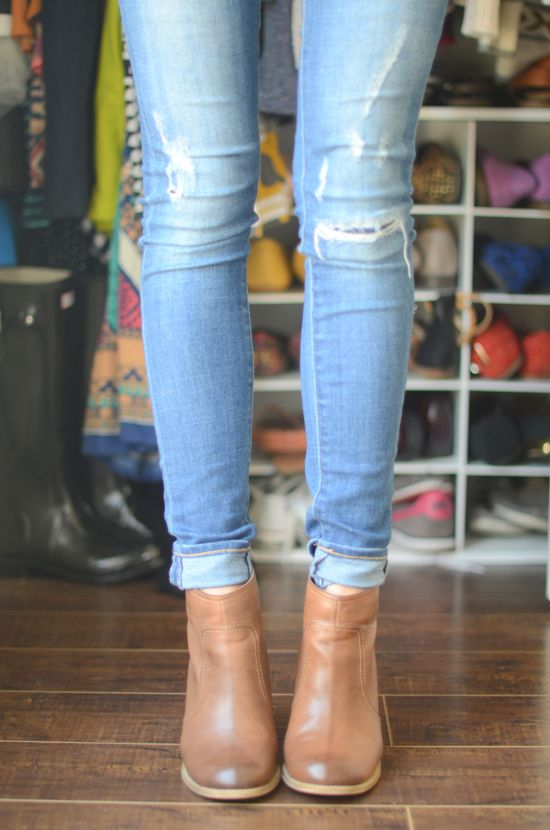 The first time I wore a pair of jeans with ankle boots, I struggled with the right length and style and cuffing.