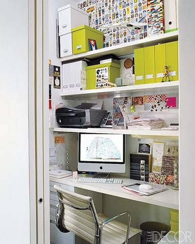 small closet office i love this for a small office