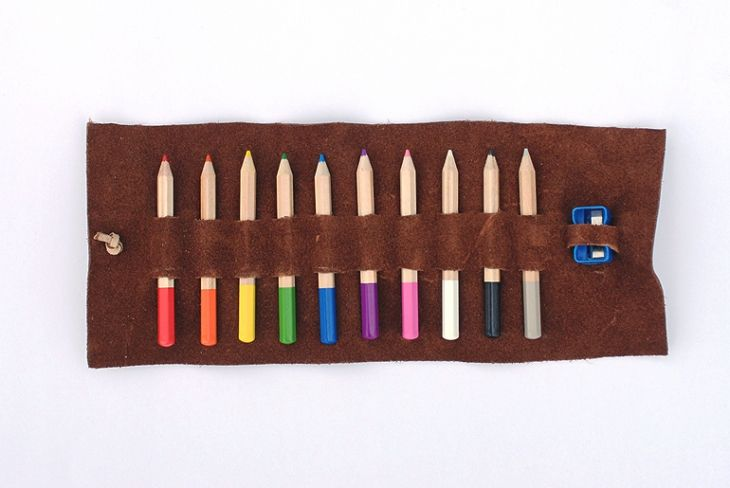 DIY Leather Pencil Case  @themerrythought