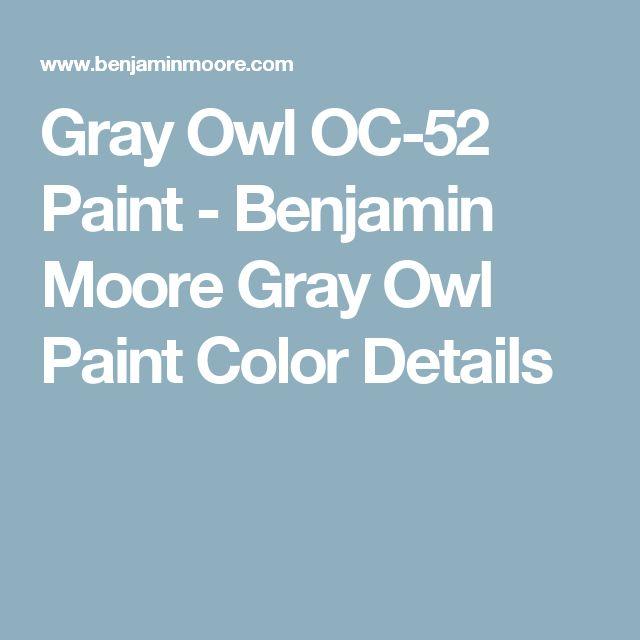 Gray Owl OC-52 Paint - Benjamin Moore Gray Owl Paint Color Details