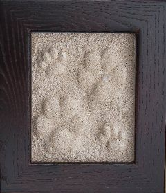 Have the memory of your dog or cat last a lifetime with a beautiful raised�paw print, done in you home! Fun, safe and easy!� Looks like a work of art!�  Site has instructions!