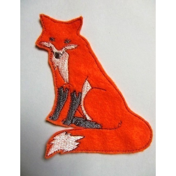 Fox Applique..Embroidered Iron On Applique ❤ liked on Polyvore