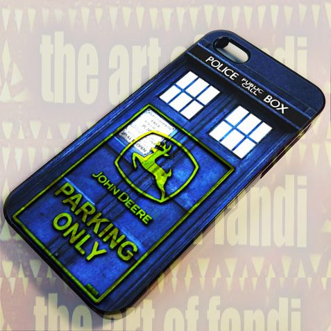 Tardis John Deere For iPhone 5/5c/5s Black Rubber Case