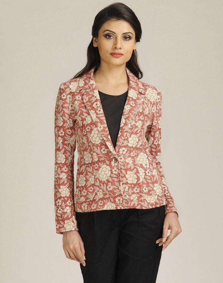 Fabindia.com | Cotton Khadi Gudri Lapel Jacket