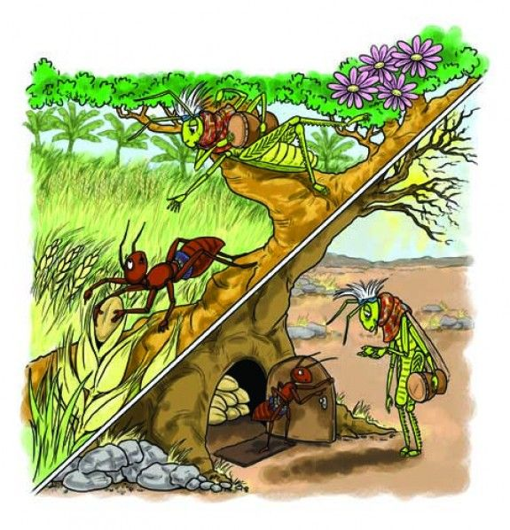 The legend of the Ant and the Grasshopper. For more information visit astridcastle.com