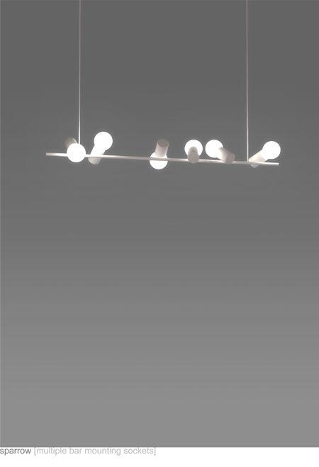 Marvelous Bird Lamps   Angled Bulb Sockets By Zhili Liu