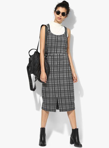 Buy Dorothy Perkins Check Midi Pinny Dress For Women Online @ 50