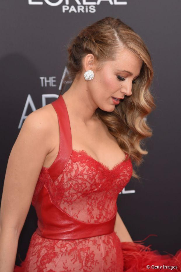 Blake Lively with at The Age Of Adaline Premiere in New York City