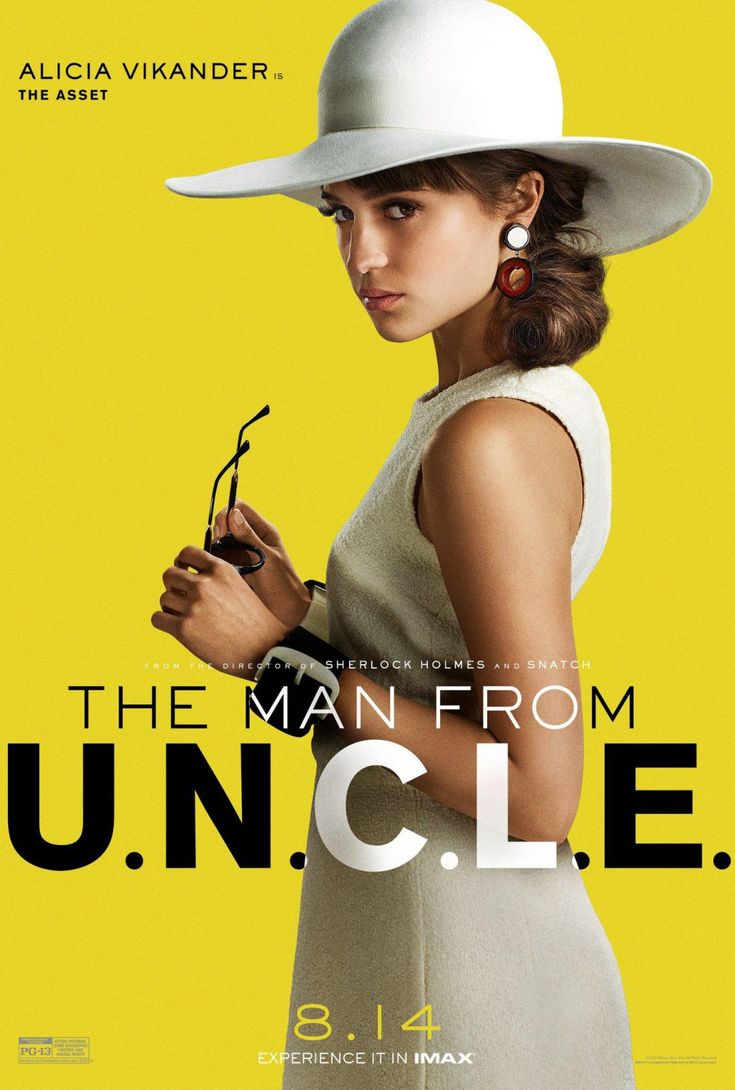 Alicia Vikander in 'The Man from U.N.C.L.E.' Movie Posters