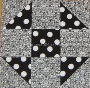 Make a Shoo Fly Block from Charm Squares