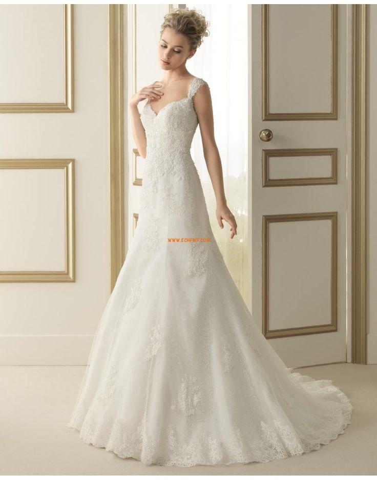 Court Släp Vår 2014 Vinter Vintage Bröllopsklänningar