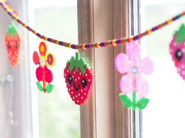 blomster lavet af Hama perler