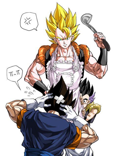 Gogeta, Vegito, and Gotenks | Goku desenho, Personagens de ...