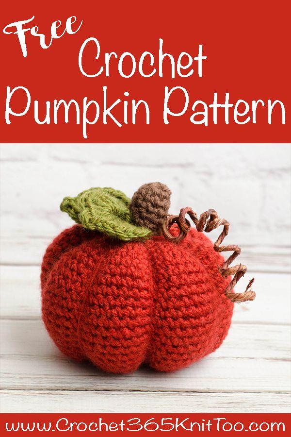 Medium Crochet Pumpkin Pattern   crochet efterår   Pinterest ...