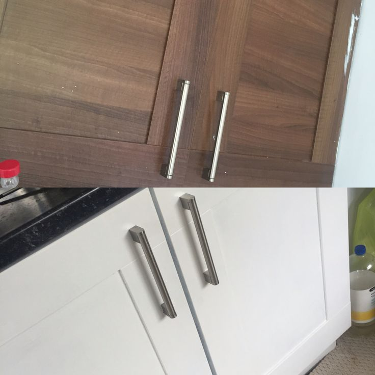 Kitchen cupboards painted using V33 renovation paint!