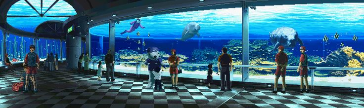 An incredible collection of video game backgrounds in animated GIF form