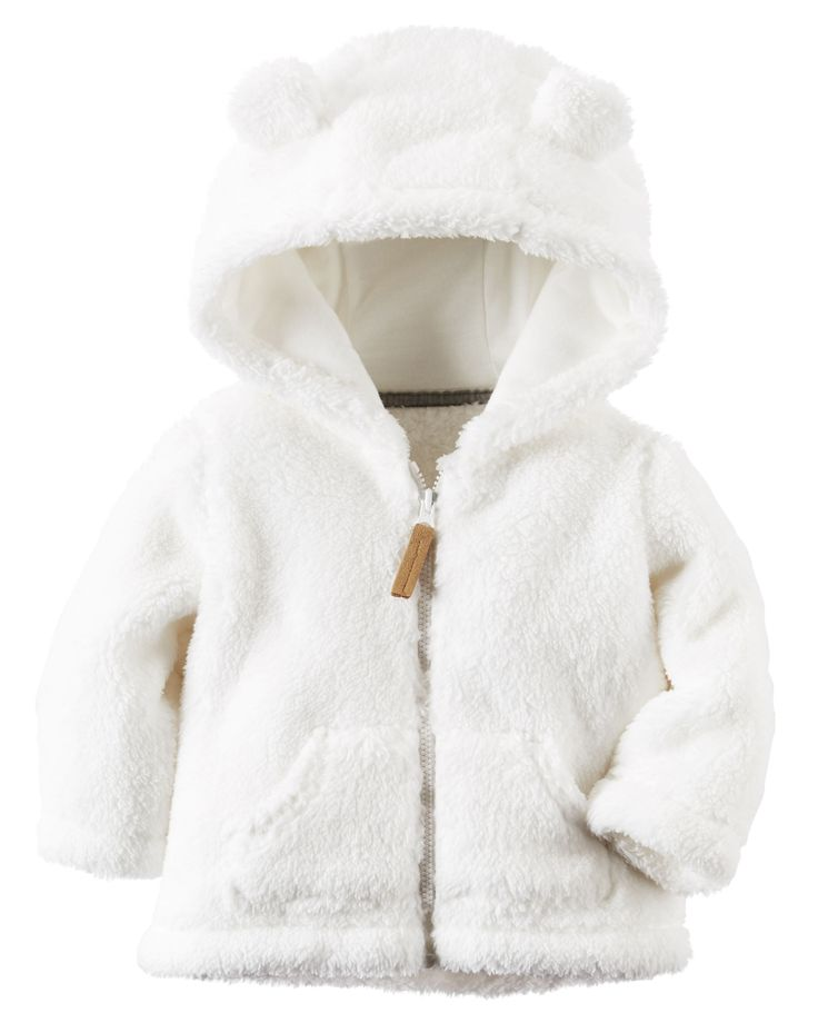 Hooded Sherpa Zip-Front Jacket from Carters.com. Shop clothing & accessories from a trusted name in kids, toddlers, and baby clothes.