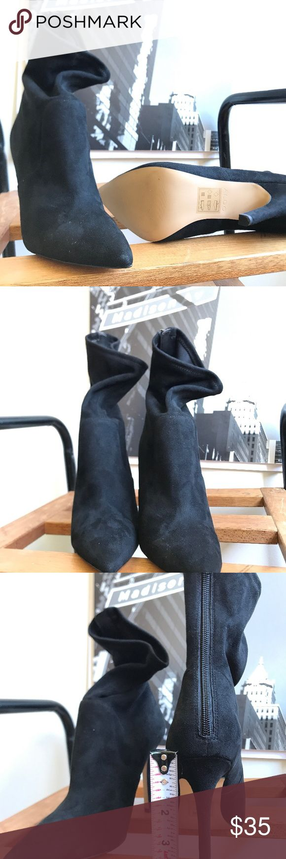 🙌🏾Brand New Aldo Ankle Booties #0182NW Brand new Aldo faux suede ankle booties with stretch material around the ankle area & lower leg area for a closer fit. #women #booties #anklebooties #boots #Aldo #size6.5 Aldo Shoes Ankle Boots & Booties