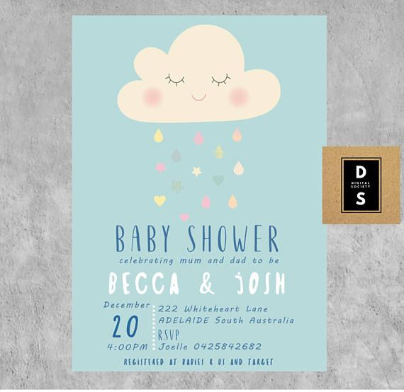 baby shower invitation boy digital printable games