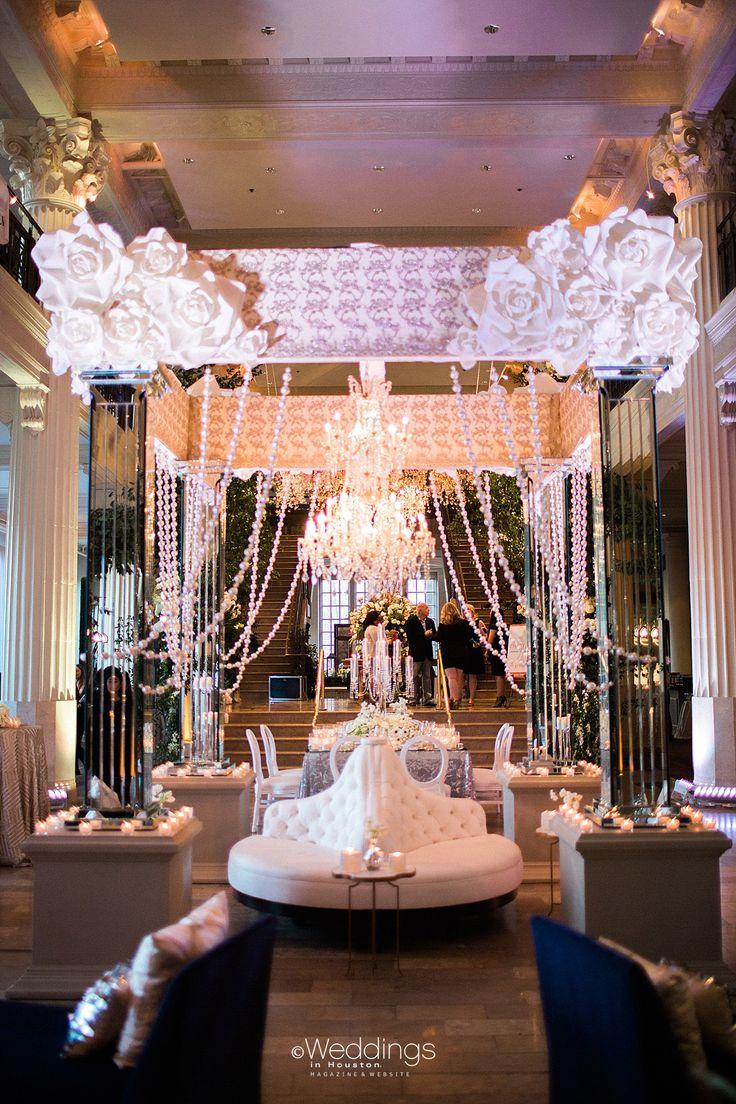 Glamorous Wedding Decor by Plants N' Petals   Photo: Civic Photos