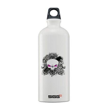 Hairdresser Pirate Skull Sigg Water Bottle 0.6L