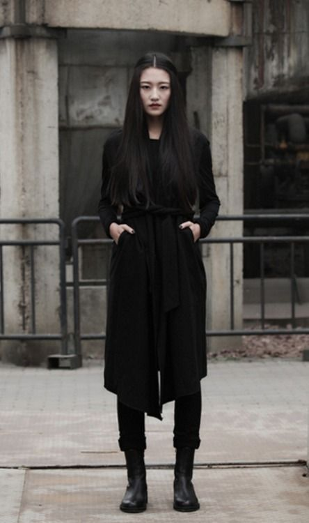 dark gothic futuristic modern witch female future street outfit minimalist minimalistic clothes perfect goth visions casual womens clothing outfits woman