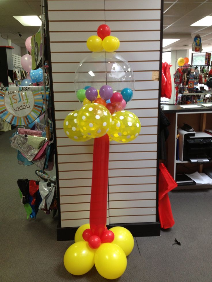 496 best balloons candyland images on pinterest for Balloon decoration machine