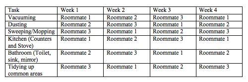 best 25  roommate chore chart ideas on pinterest
