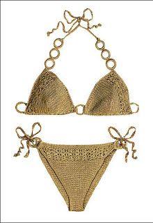 MANUALIDADES CON MARIEL: bikini crochet