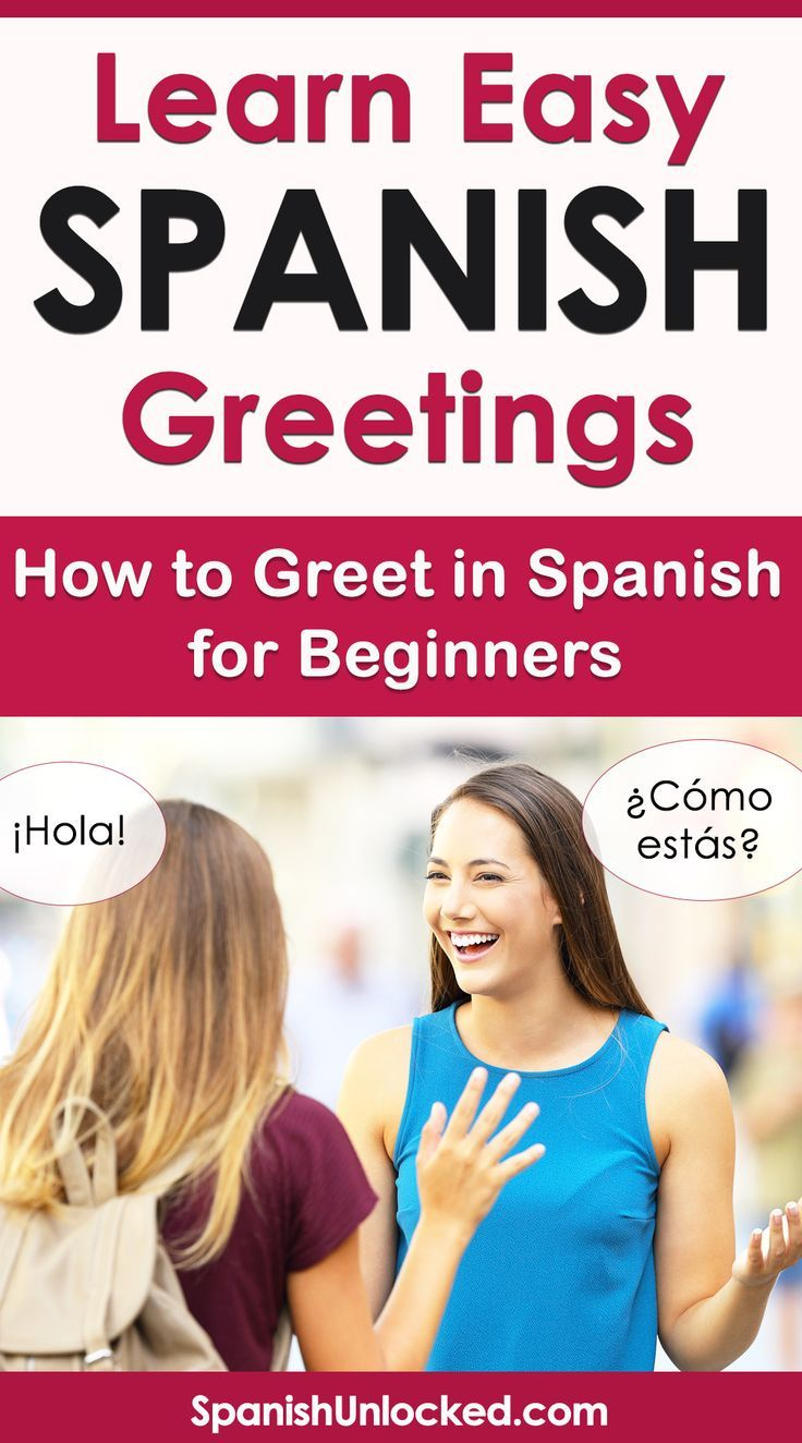 Learn Greetings In Spanish How To Say Hello How Are You In Spanish Including Good Morning Good Af Learning Spanish Learn Spanish Online How To Speak Spanish