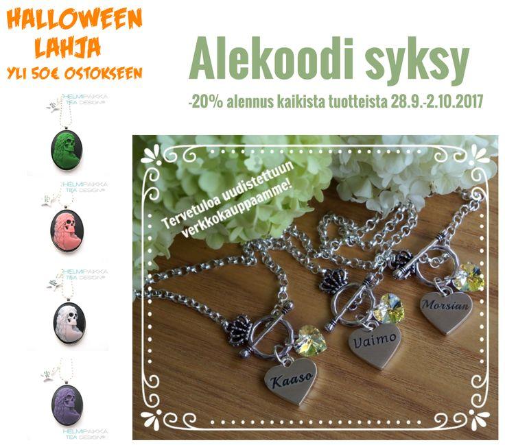 Alekoodi uusittuun www.helmipaikka.fi koruverkkokauppaan!