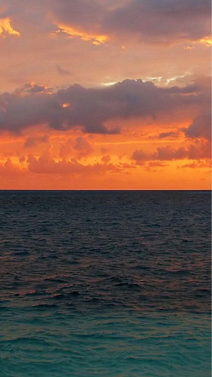 Nature-Sunset-Ocean-Surface-iPhone-6-wallpaper.