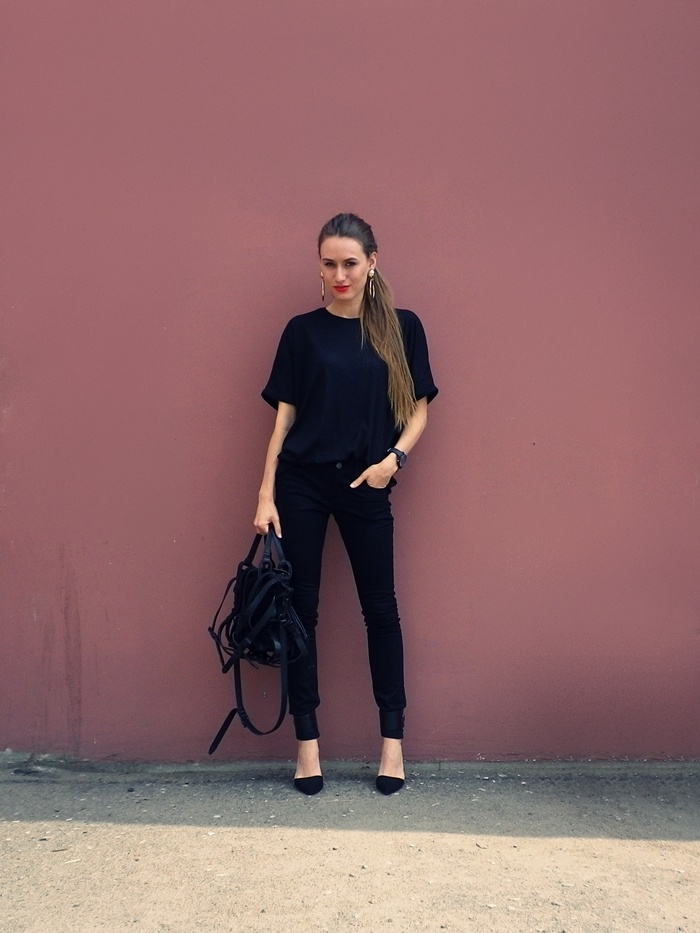 Pumps & Kicks: Outfit // All black everything