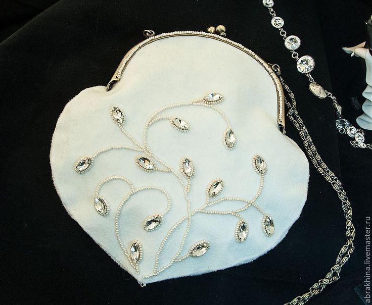 Купить свадебная сумочка - белый, цветочный, свадебные украшения, свадебные аксессуары, свадьба, свадебные сумочки