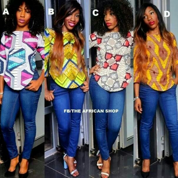 Ankara print on Denim