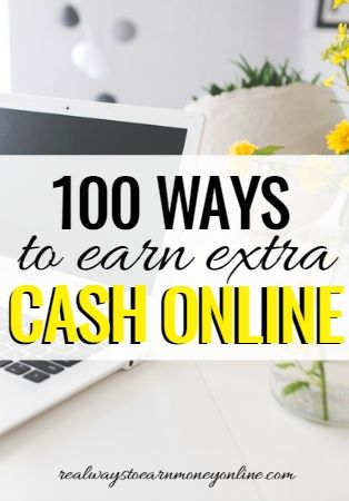 This is a massive list of over 100 ways to earn extra cash online.