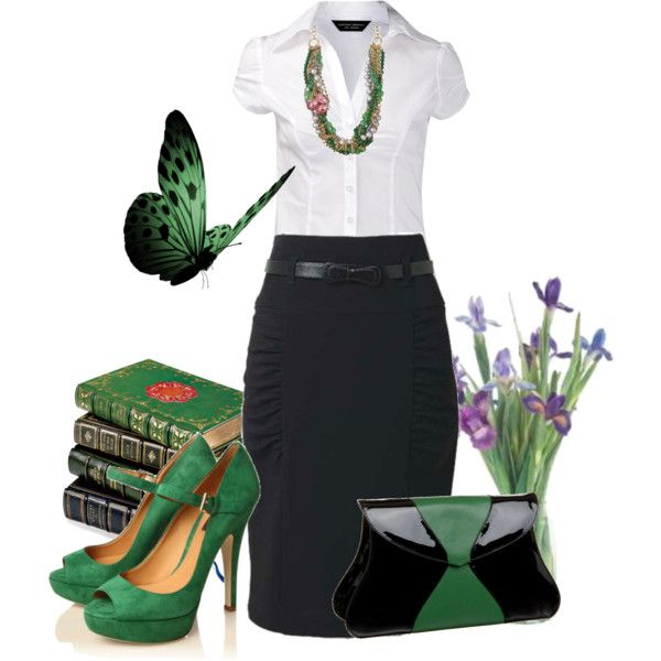Affordable Office Attire Love The Pop Of Color In Shoes