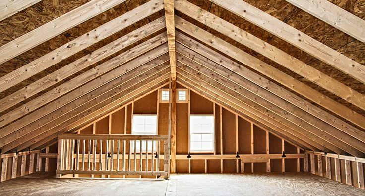 2 story prefab garage horizon structures attics for Prefab garage plans