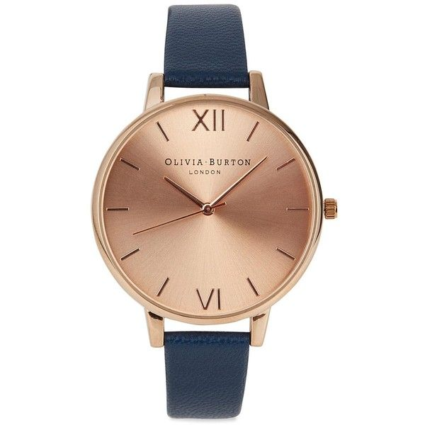Olivia Burton Big Dial rose gold plated watch found on Polyvore