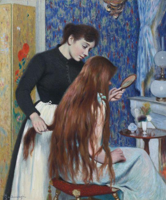 Federico Zandomeneghi (1841 - 1917) - La coiffure