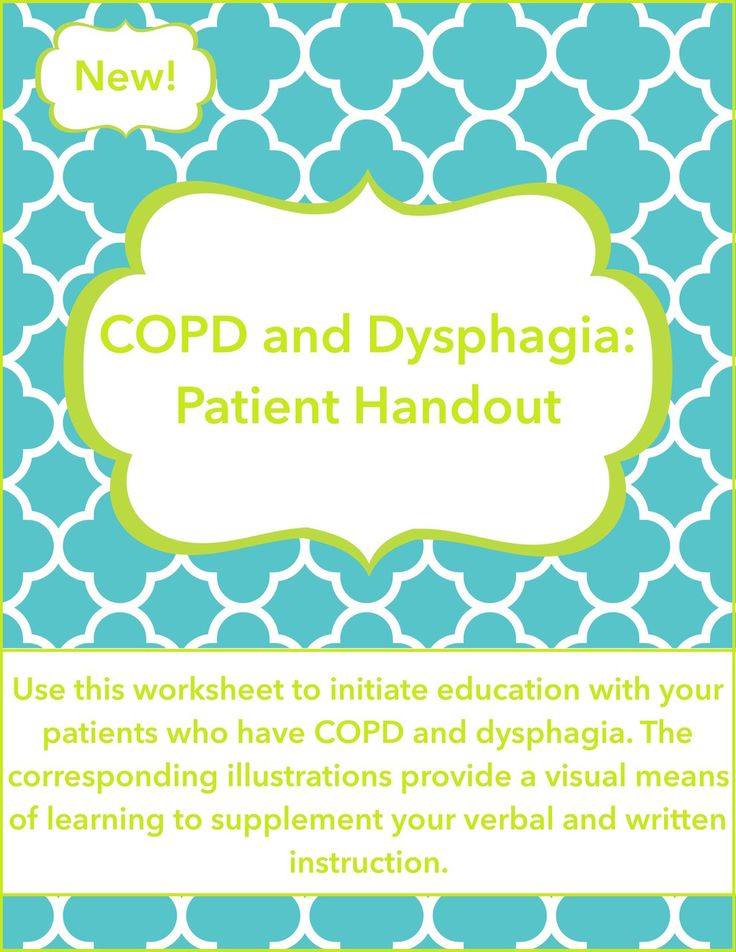 COPD and Dysphagia: Patient Handout - CALM Speech Therapy
