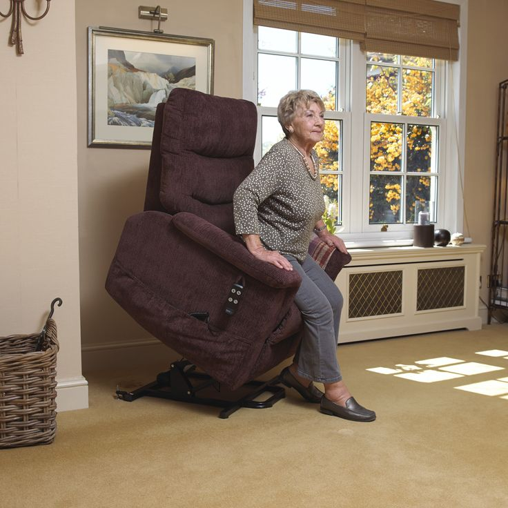 Vibrant and comfortable fabric riser recliner, if you have problems standing or sitting then the Sutton Riser Recliner is the perfect solution!