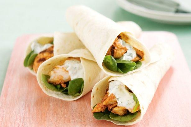 Tandoori Chicken Wrap Recipe - Taste.com.au