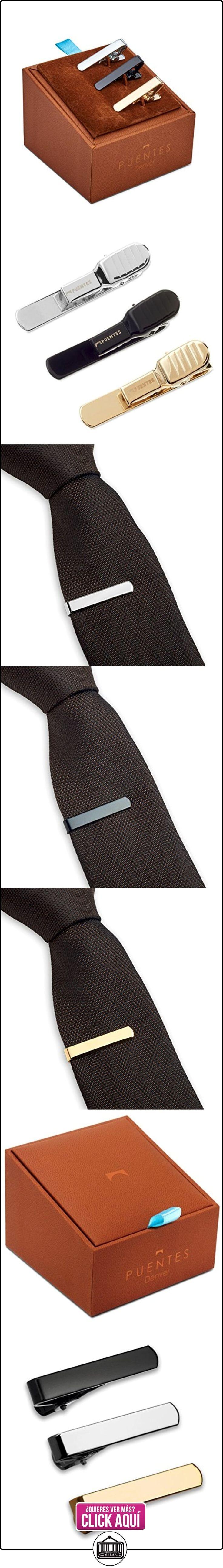 Set de 3 Pc Pasador de Corbatas Estrechas 2.8cm Pisacorbatas Skinny, Tono Plateado, Dorado y Negro en Caja de Regalo  ✿ Joyas para niños - Regalos ✿ ▬► Ver oferta: https://comprar.io/goto/B00VAPGJ5Y