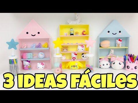Manualidades Fáciles para Decorar sin gastar dinero(manualidades kawaii) - YouTube