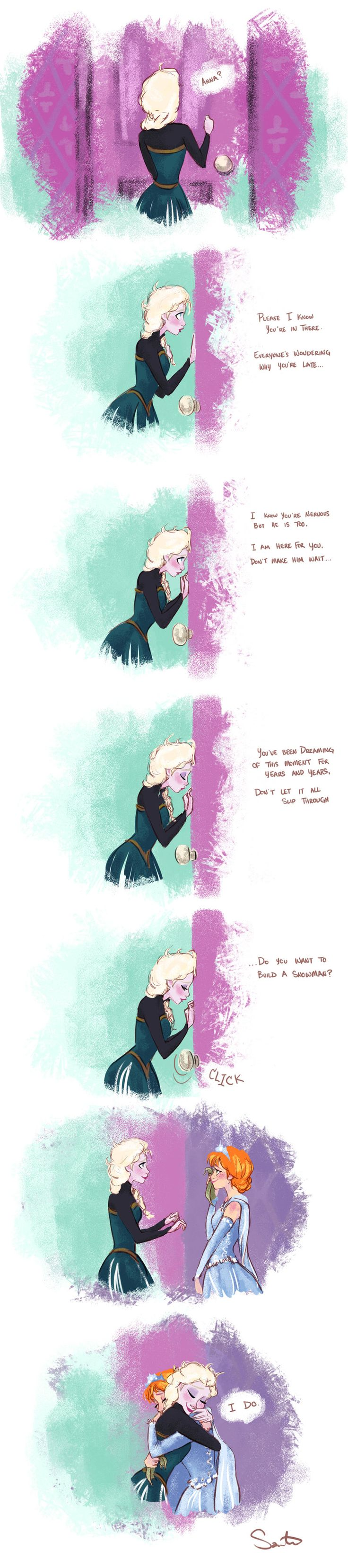 Seriously?! Is everyone taking my idea of how Frozen should have ended?!