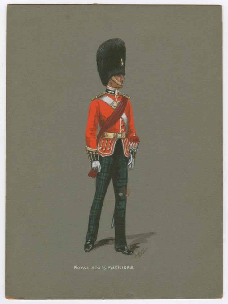 British; Royal Scots Fusiliers, Officer by Benham.