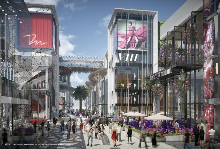 "Miami Worldcenter unveils design of ""high street"" retail"