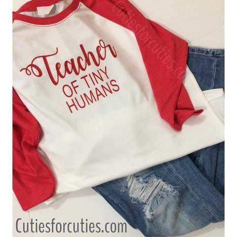 Teacher of Tiny Humans Tee, Teacher Shirt, Preschool teacher, first grade, second grade, elementary school