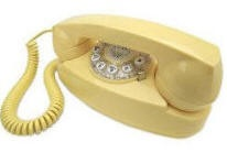 my favorite yellow princess phone.  my kids don't even know what a dial is.